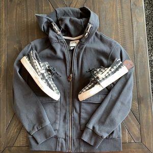 Boys size 10 black Quicksilver hoodie